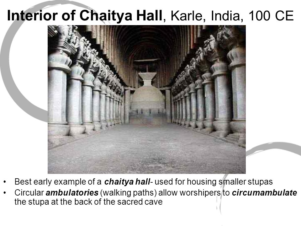 Interior of Chaitya Hall, Karle, India, 100 CE