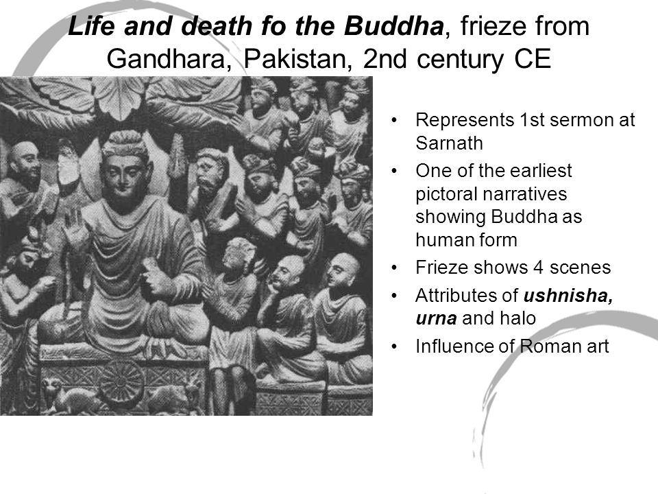 Life and death fo the Buddha, frieze from Gandhara, Pakistan, 2nd century CE