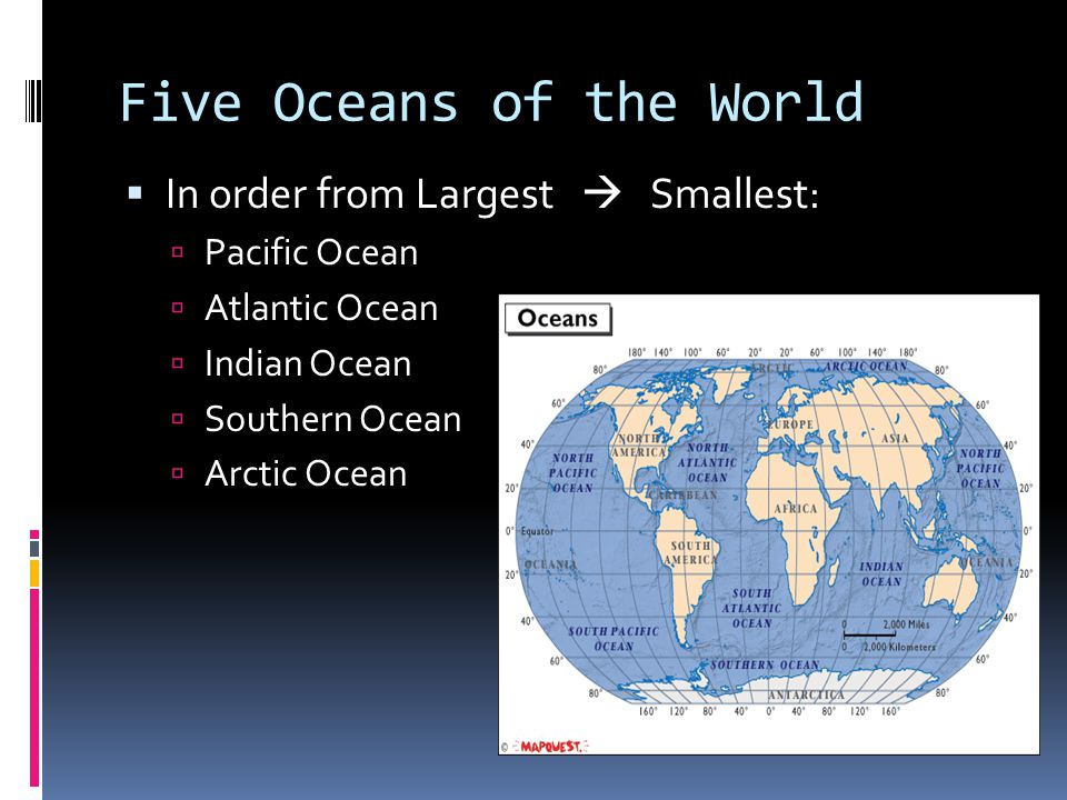 Five Oceans of the World