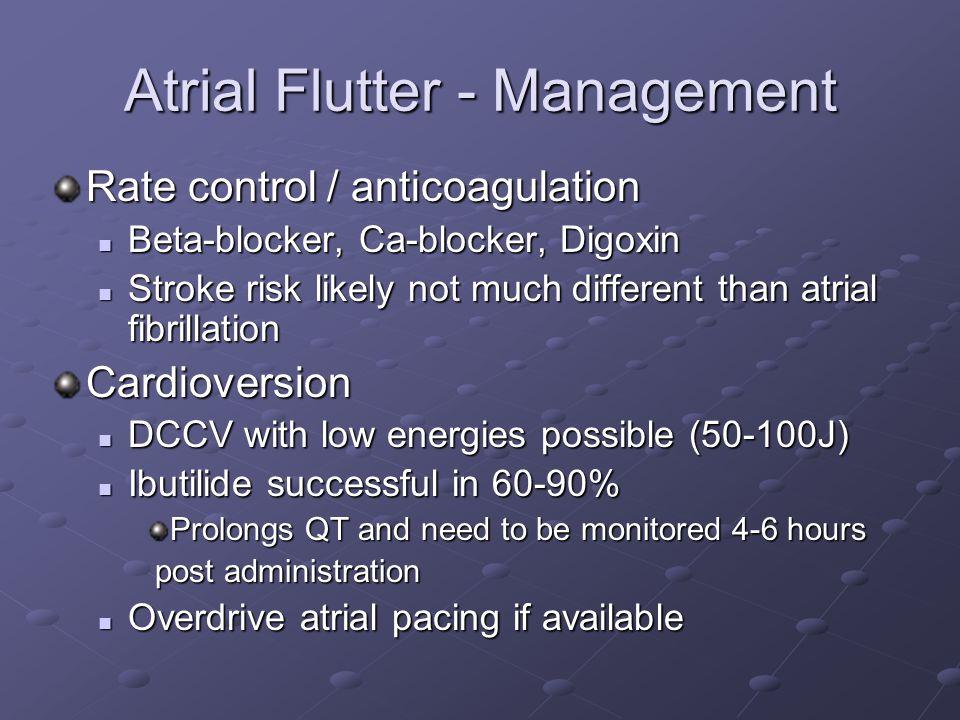 Atrial Flutter - Management