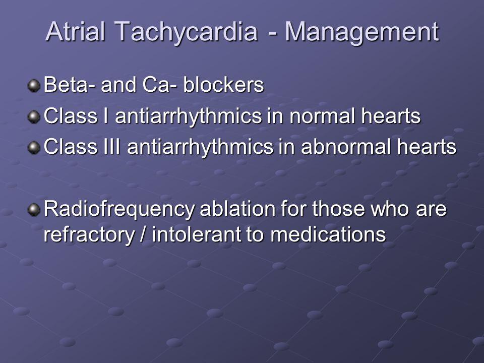 Atrial Tachycardia - Management