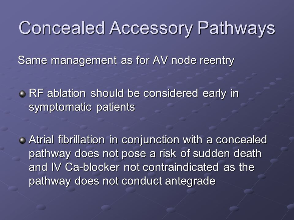Concealed Accessory Pathways