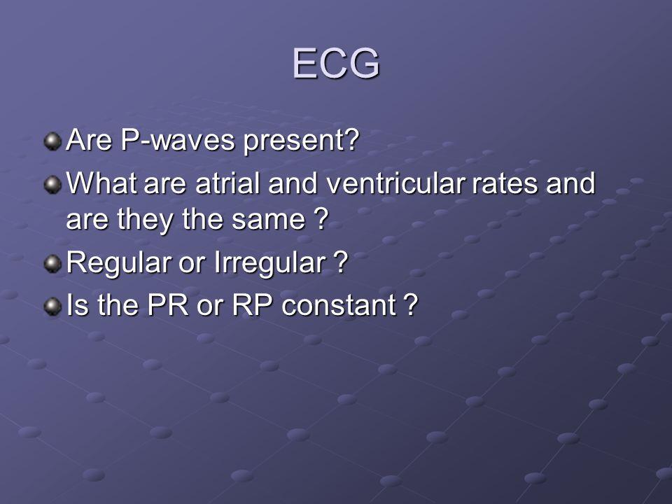 ECG Are P-waves present