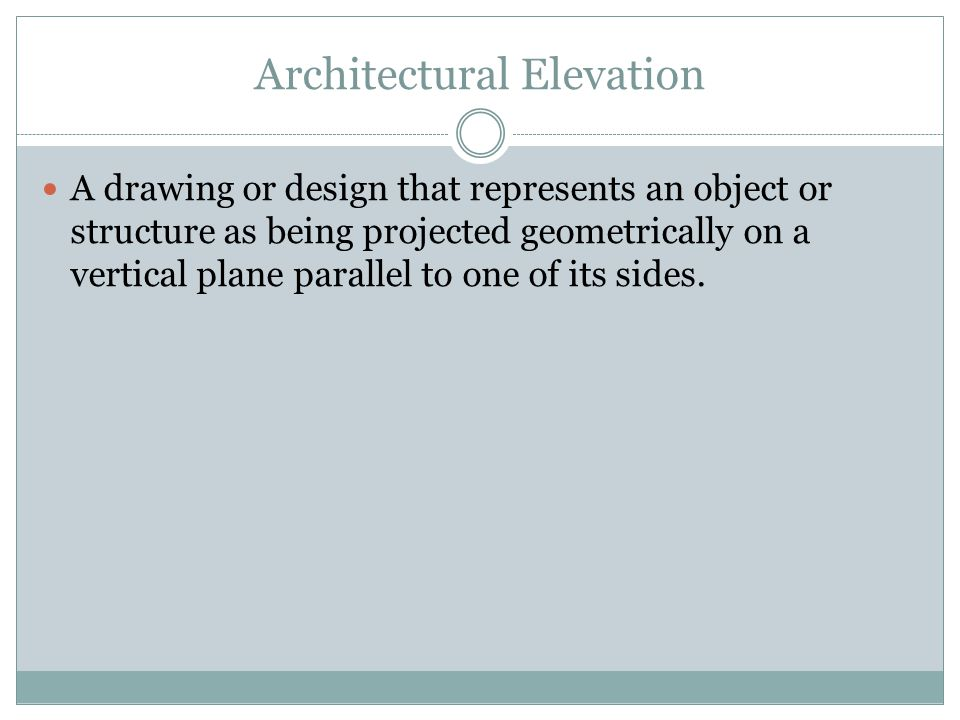 Architectural Elevation