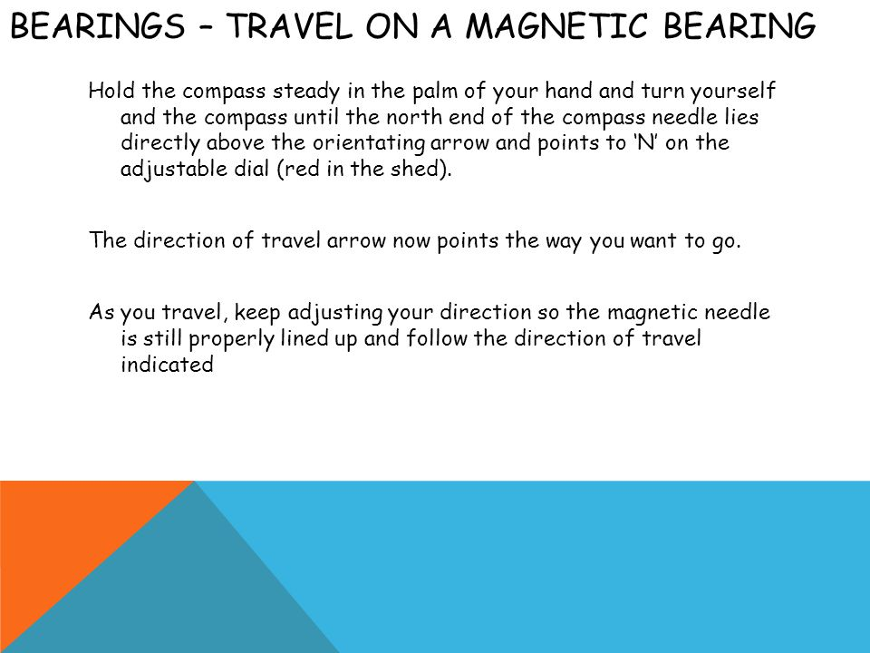 Bearings – Travel on a Magnetic bearing