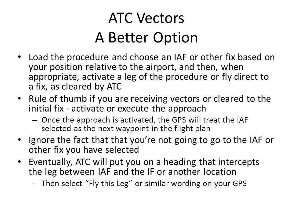 ATC Vectors A Better Option