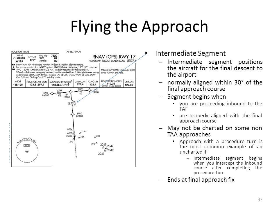 Flying the Approach Intermediate Segment