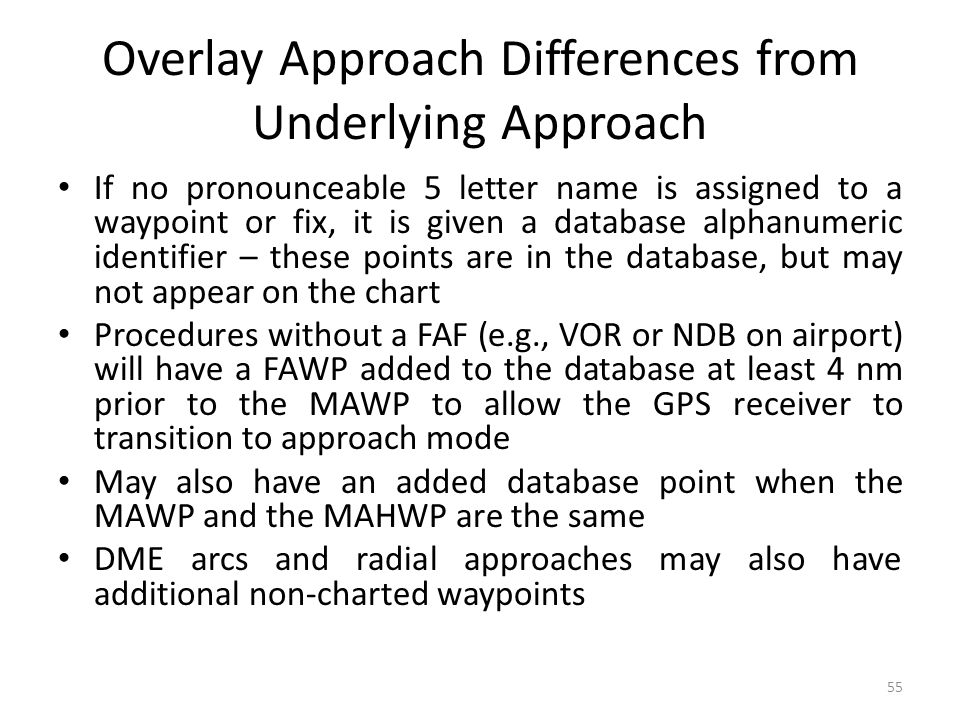 Overlay Approach Differences from Underlying Approach