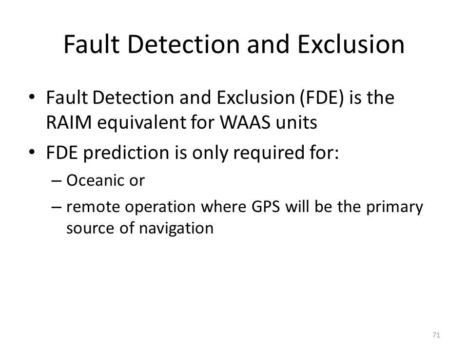 Fault Detection and Exclusion