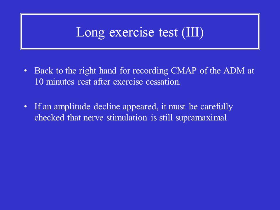 Long exercise test (III)