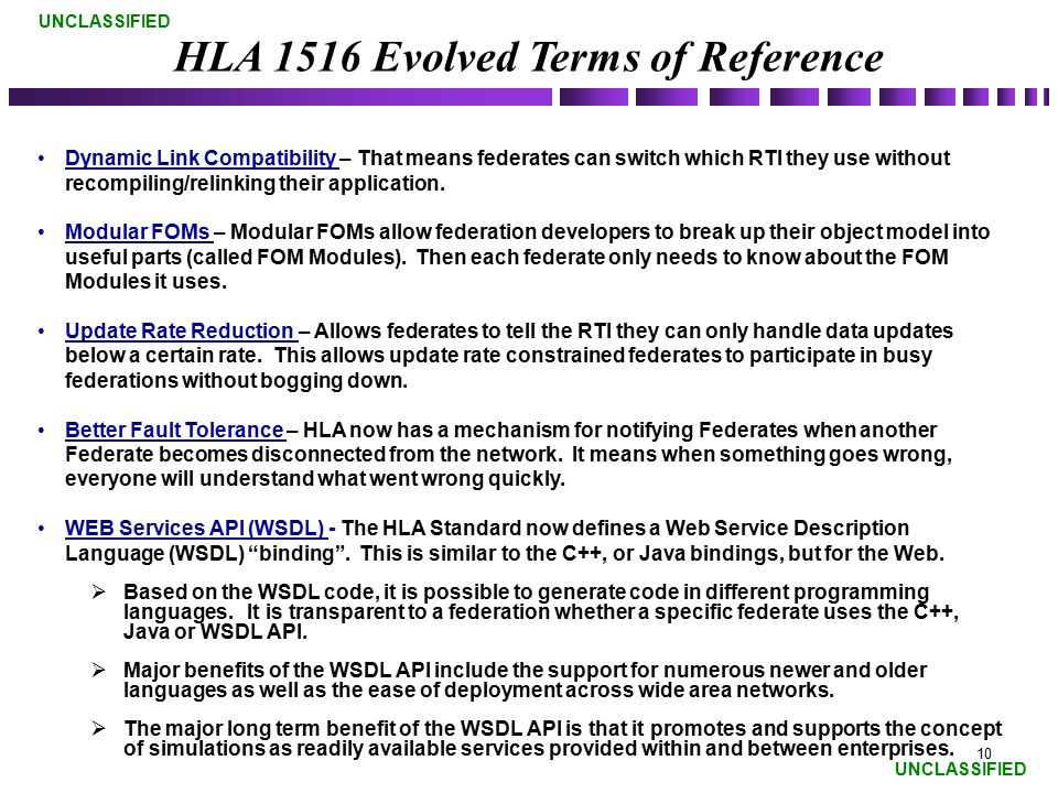 HLA 1516 Evolved Terms of Reference