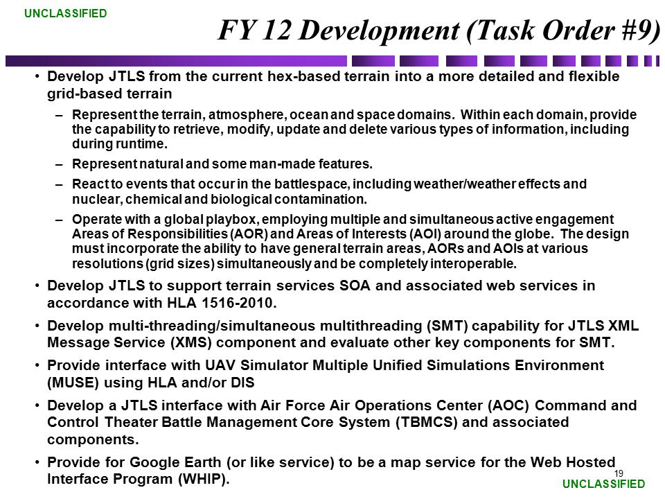 FY 12 Development (Task Order #9)