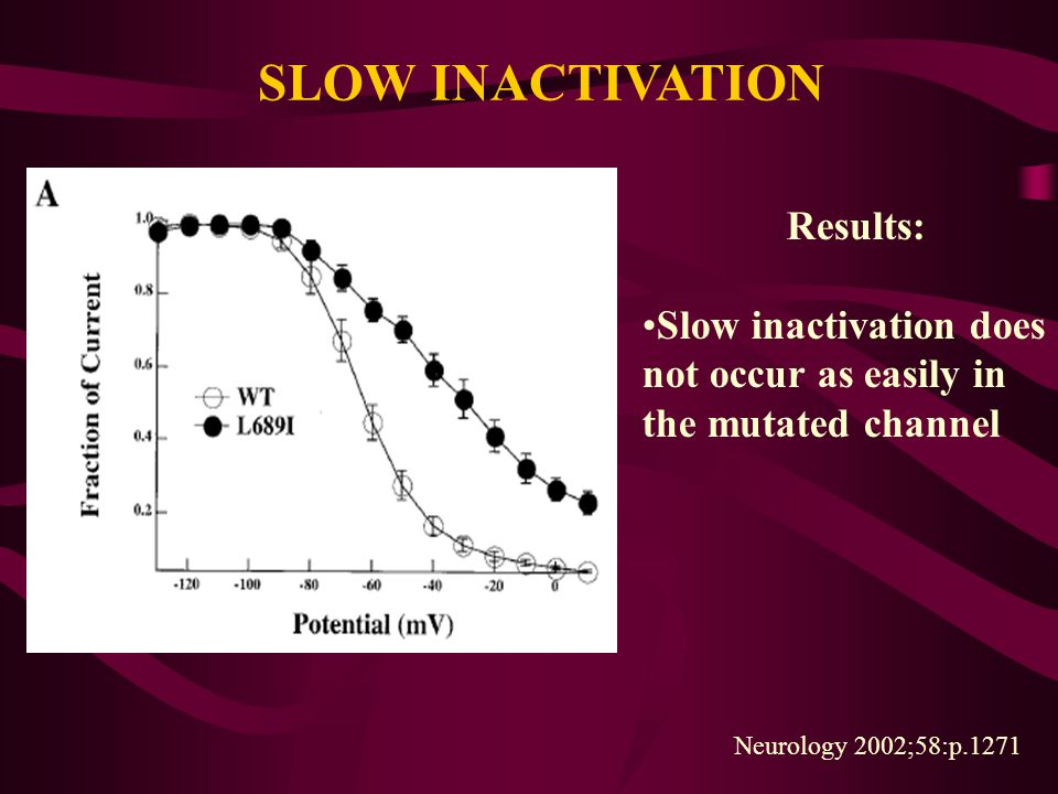 SLOW INACTIVATION Results: Slow inactivation does