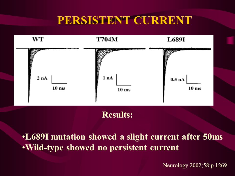 PERSISTENT CURRENT Results: