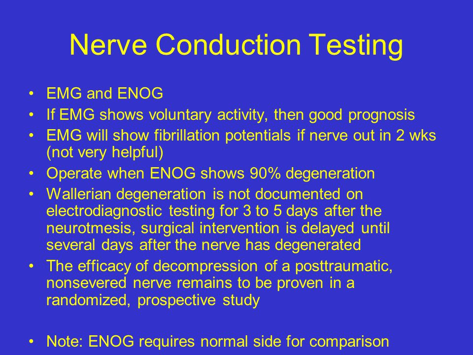 Nerve Conduction Testing