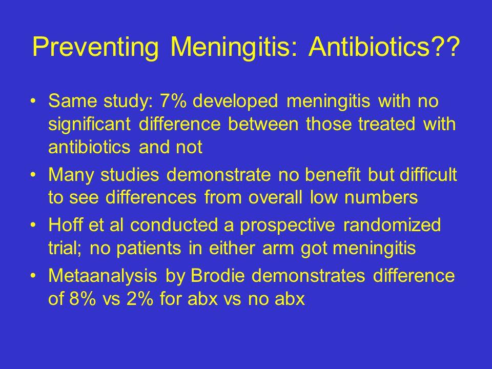 Preventing Meningitis: Antibiotics