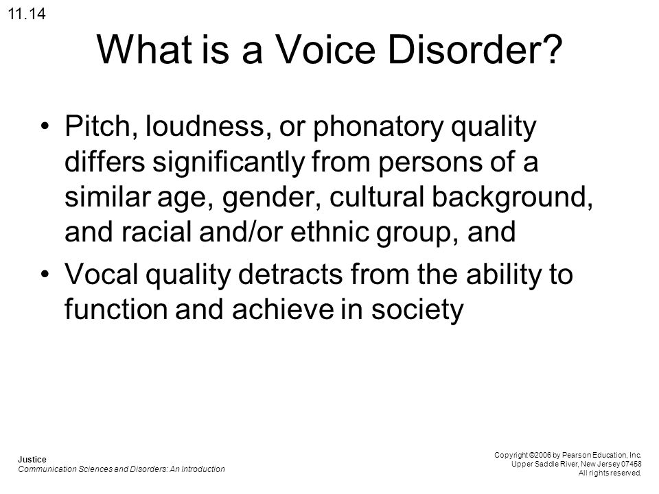 What is a Voice Disorder