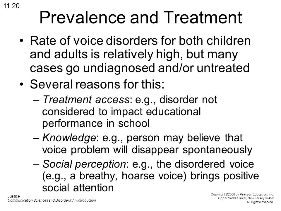 Prevalence and Treatment