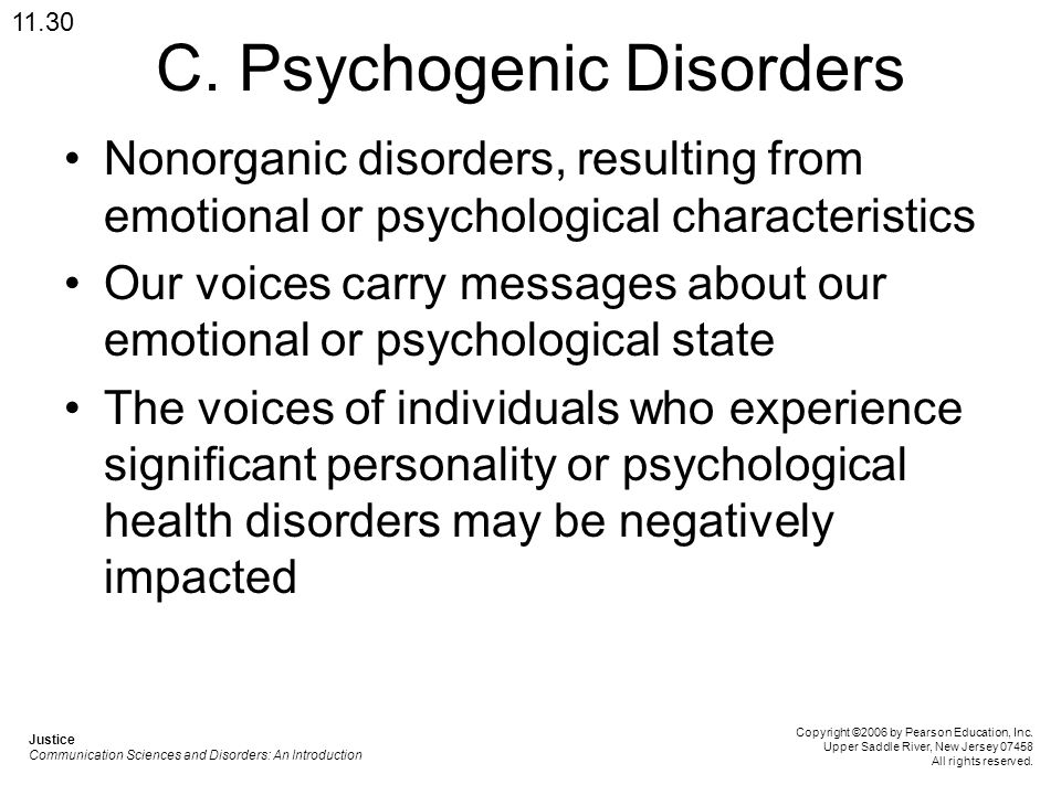 C. Psychogenic Disorders