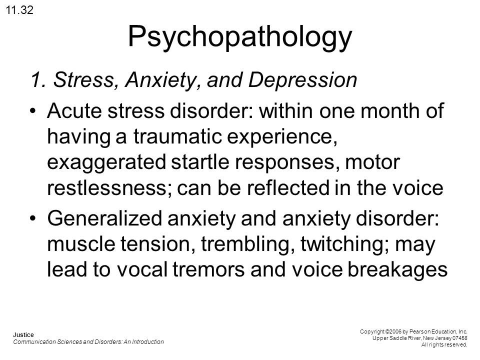 Psychopathology 1. Stress, Anxiety, and Depression