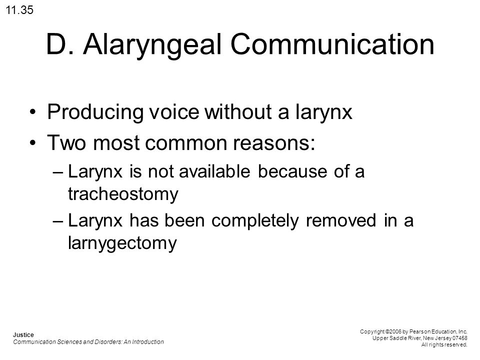 D. Alaryngeal Communication