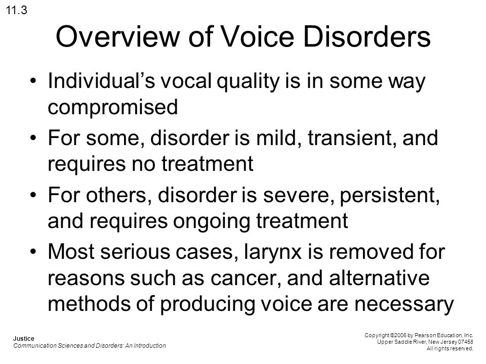 Overview of Voice Disorders