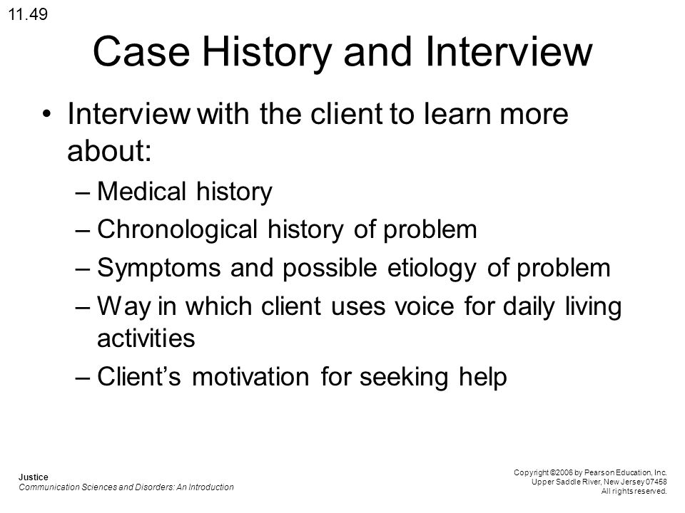 Case History and Interview