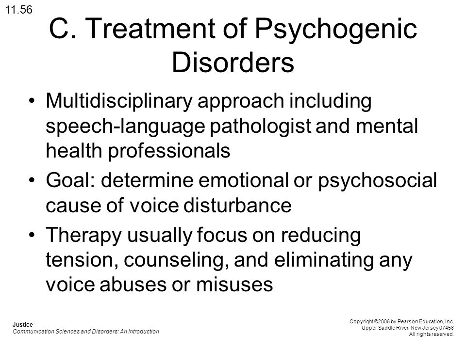 C. Treatment of Psychogenic Disorders