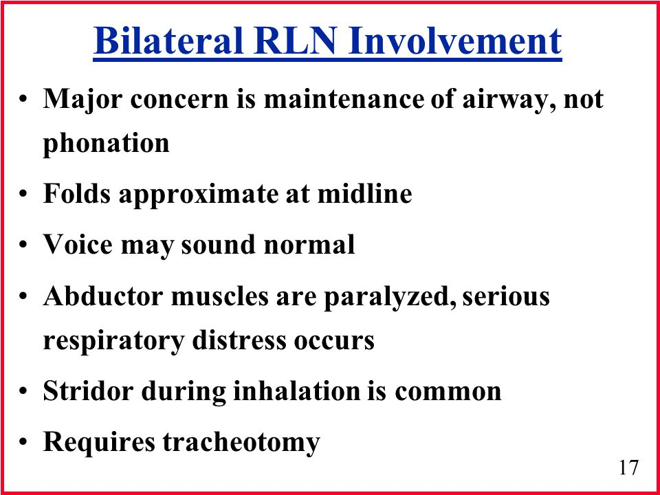 Bilateral RLN Involvement