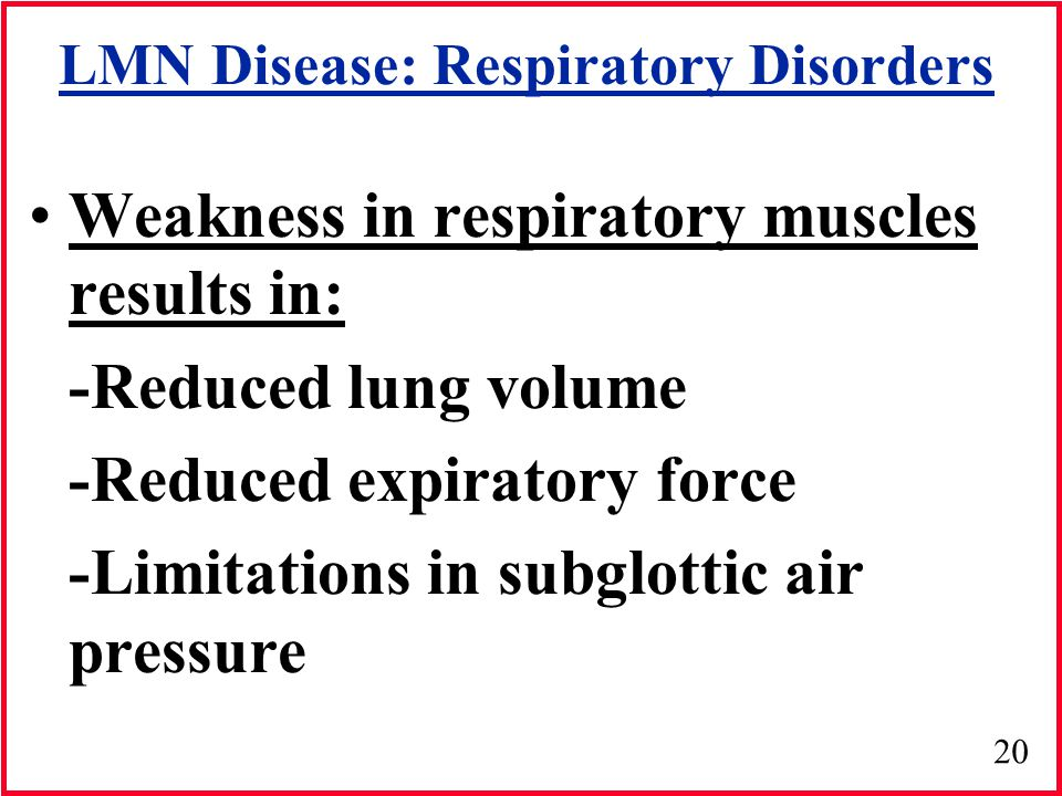 LMN Disease: Respiratory Disorders