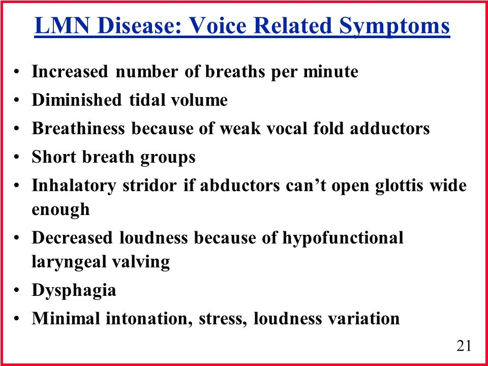 LMN Disease: Voice Related Symptoms