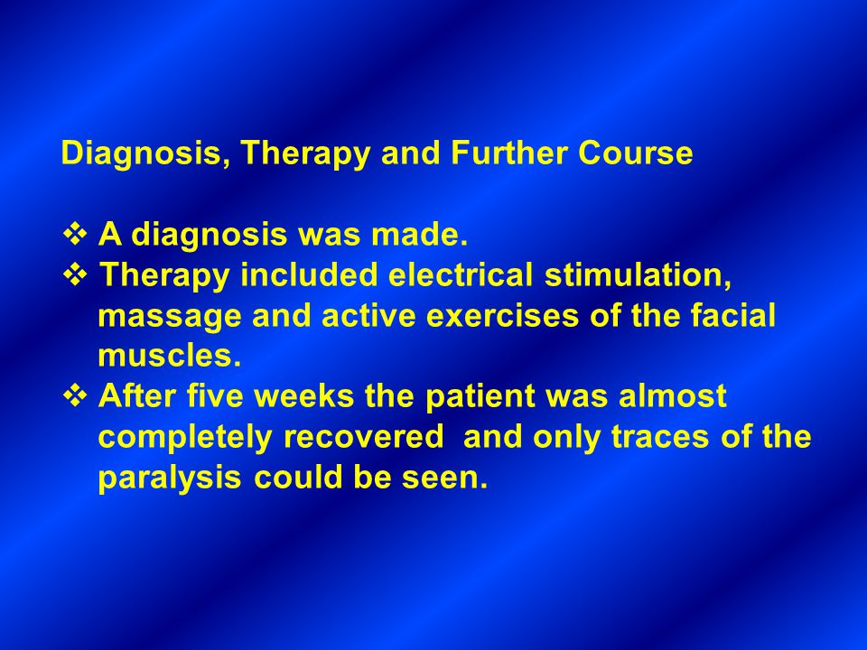 Diagnosis, Therapy and Further Course