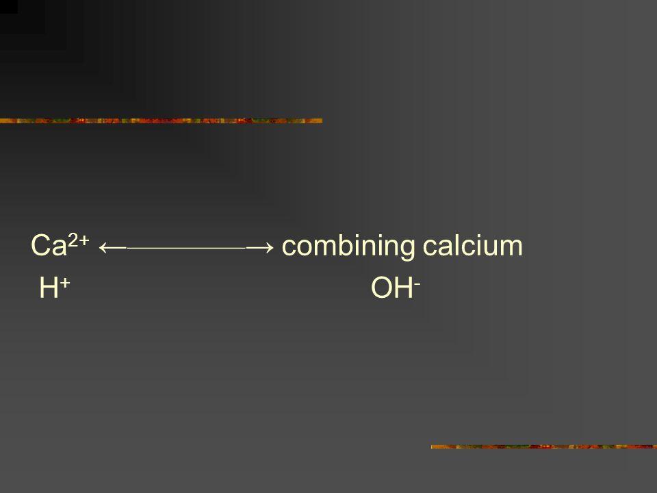 Ca2+ ←————→ combining calcium