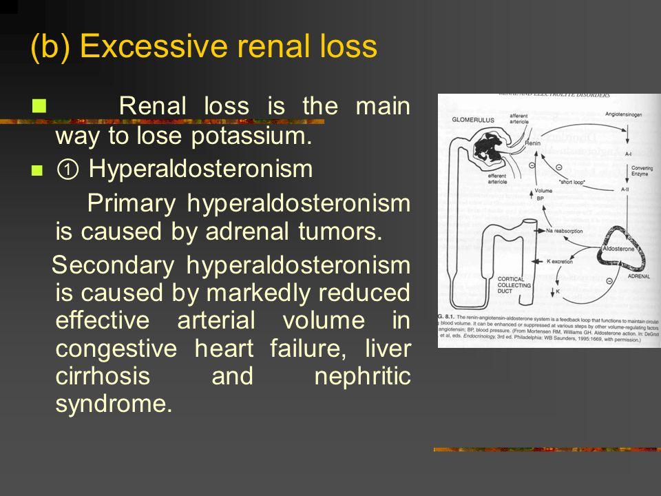 (b) Excessive renal loss