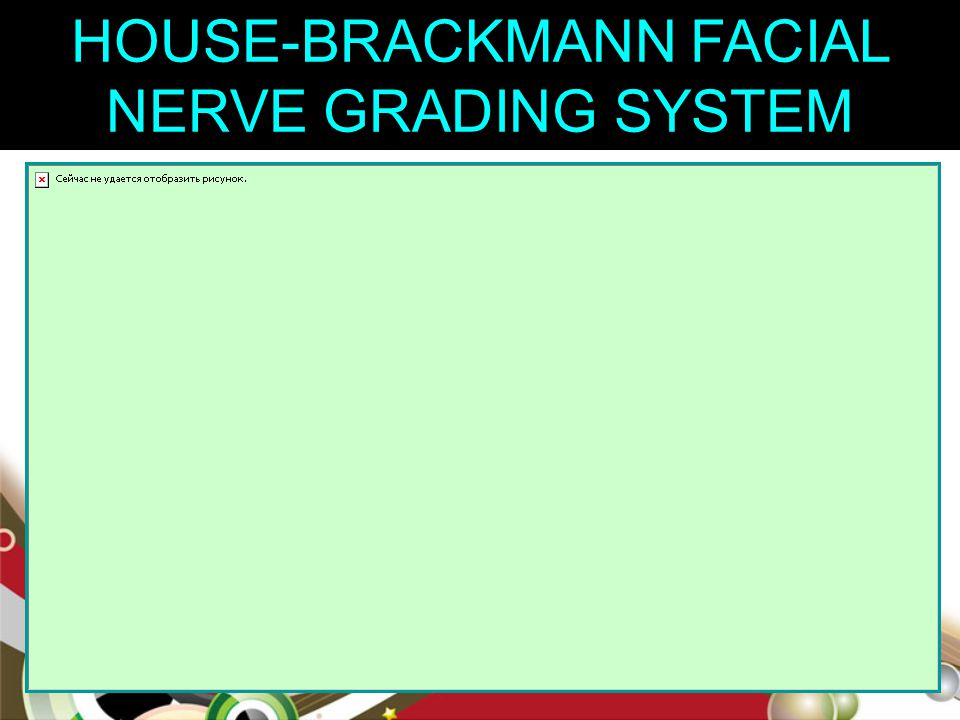HOUSE-BRACKMANN FACIAL NERVE GRADING SYSTEM