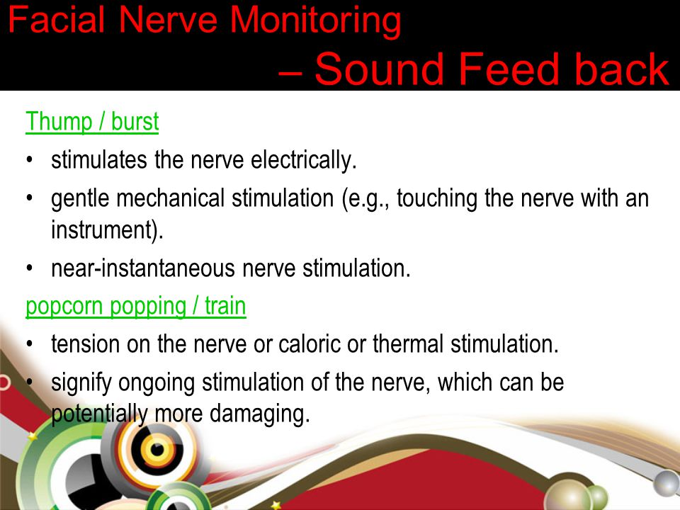 Facial Nerve Monitoring – Sound Feed back