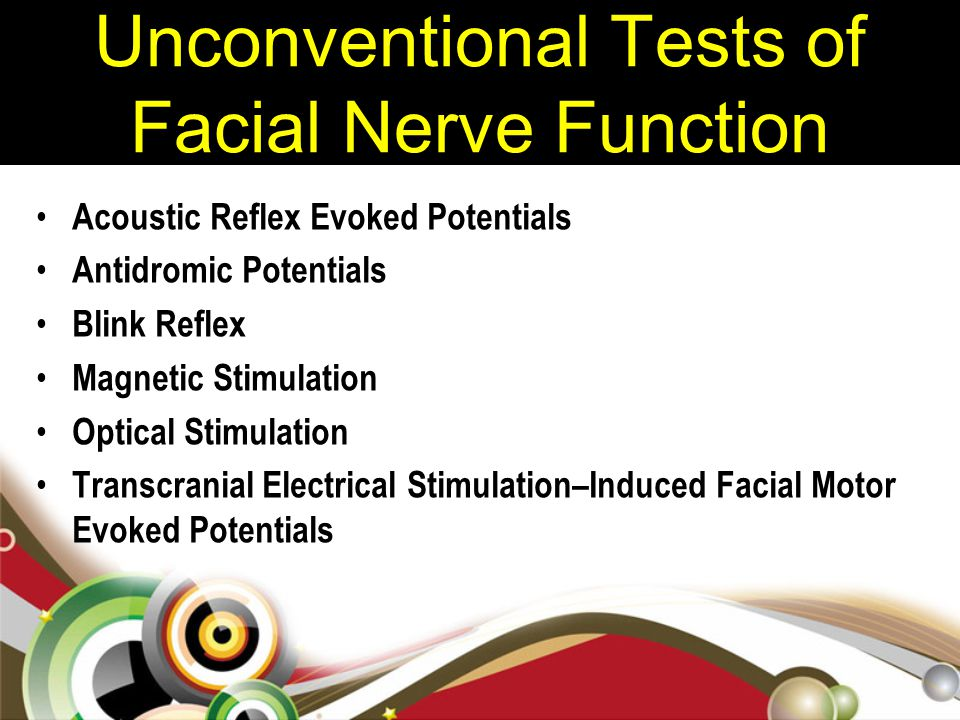 Unconventional Tests of Facial Nerve Function