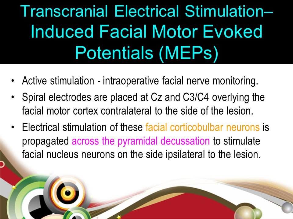 Transcranial Electrical Stimulation–Induced Facial Motor Evoked Potentials (MEPs)