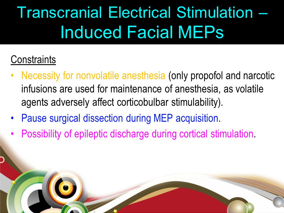 Transcranial Electrical Stimulation – Induced Facial MEPs