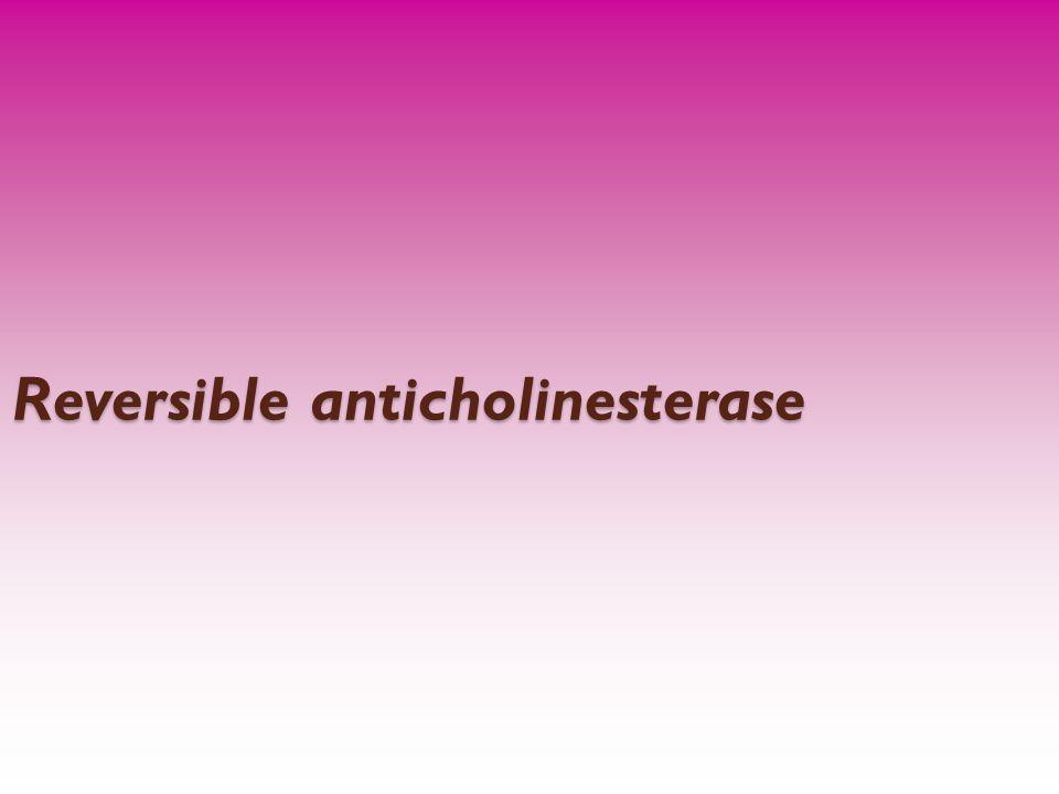 Reversible anticholinesterase