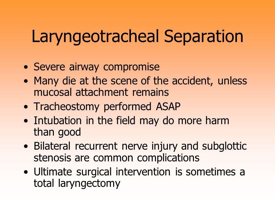 Laryngeotracheal Separation