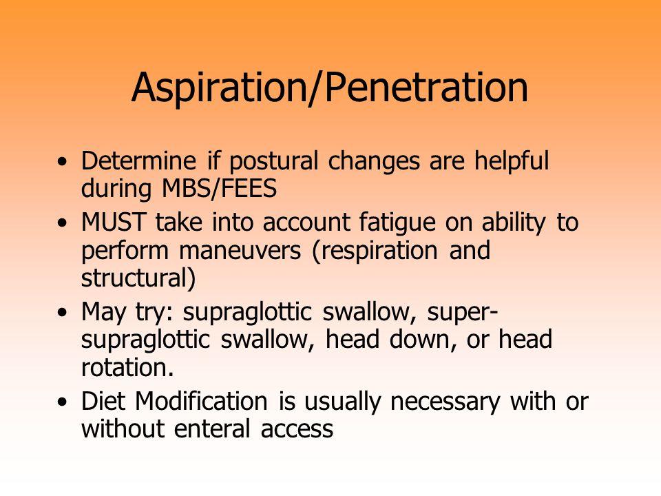 Aspiration/Penetration