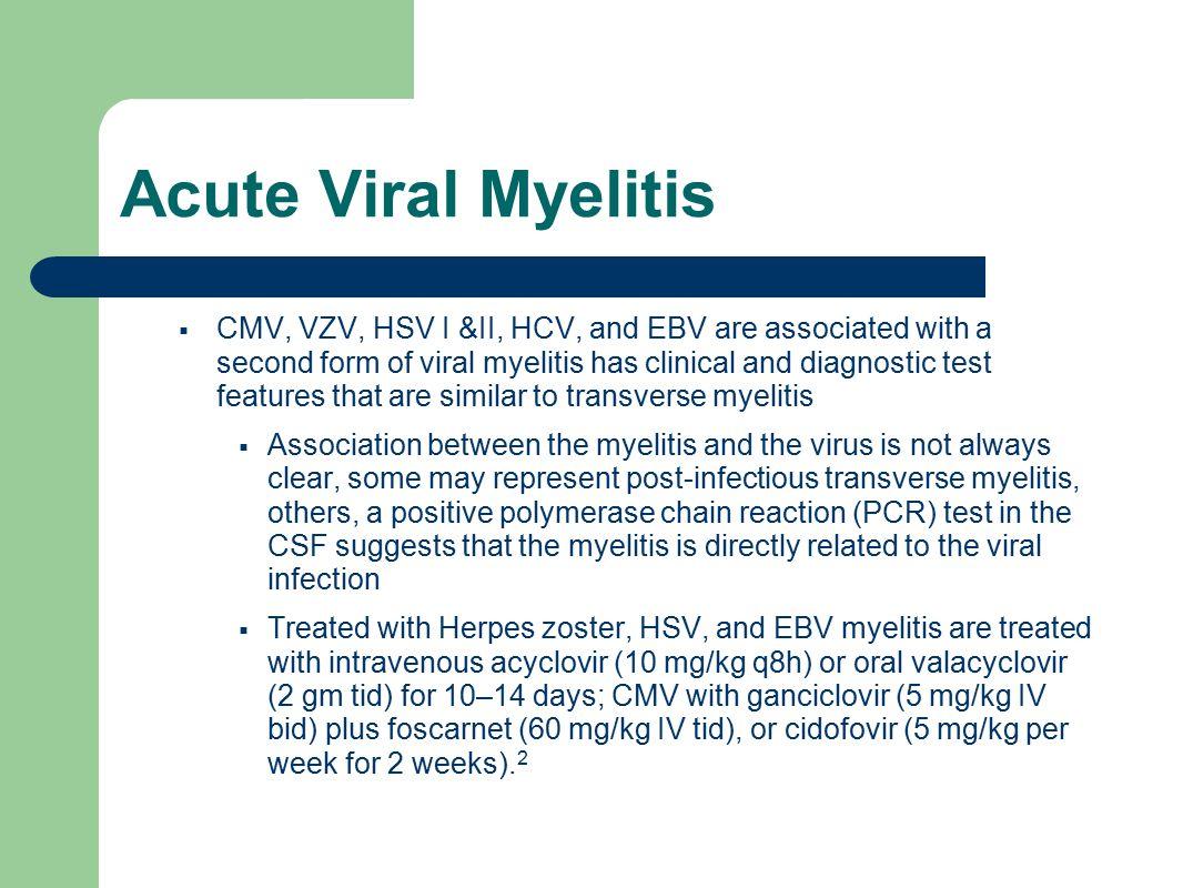 Acute Viral Myelitis