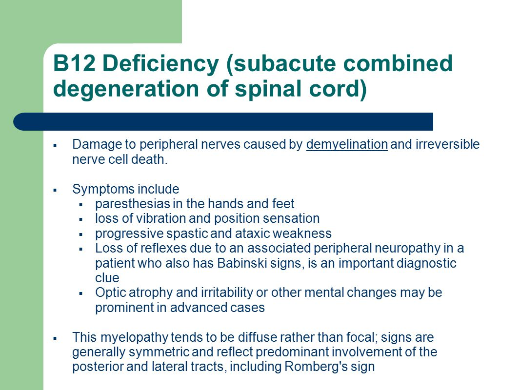 Darrell Laudate 12/4/09 AM Report - ppt video online download B12 Deficiency Spinal Cord