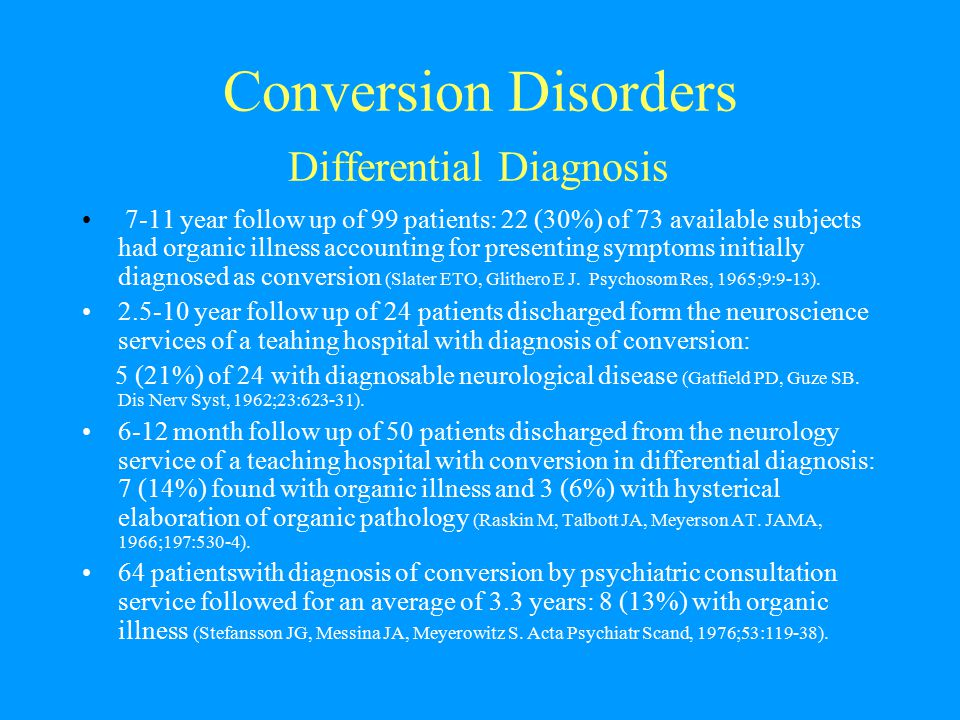 Conversion Disorders Differential Diagnosis