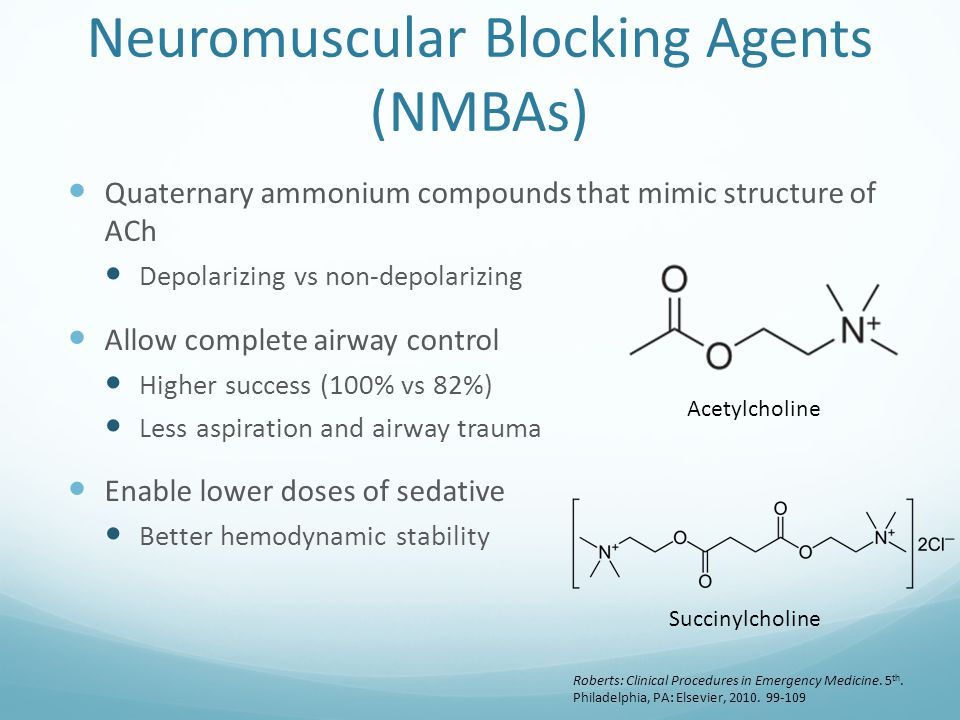Neuromuscular Blocking Agents (NMBAs)