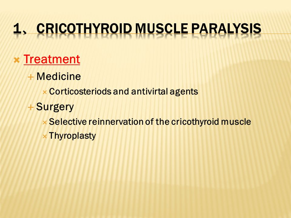 1、cricothyroid Muscle Paralysis
