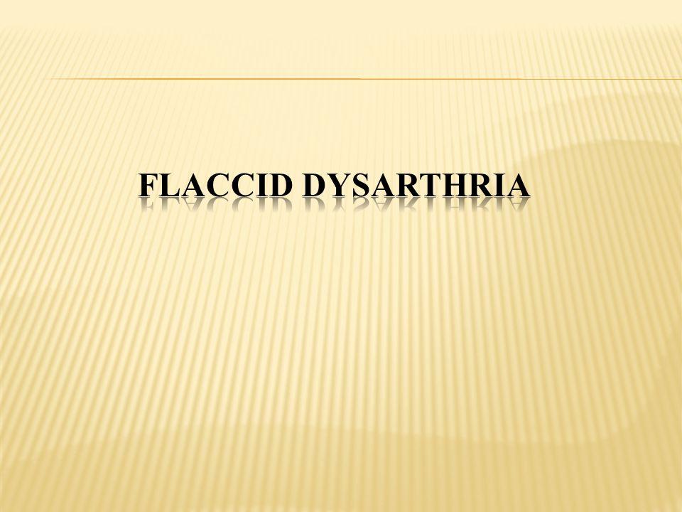 Flaccid Dysarthria