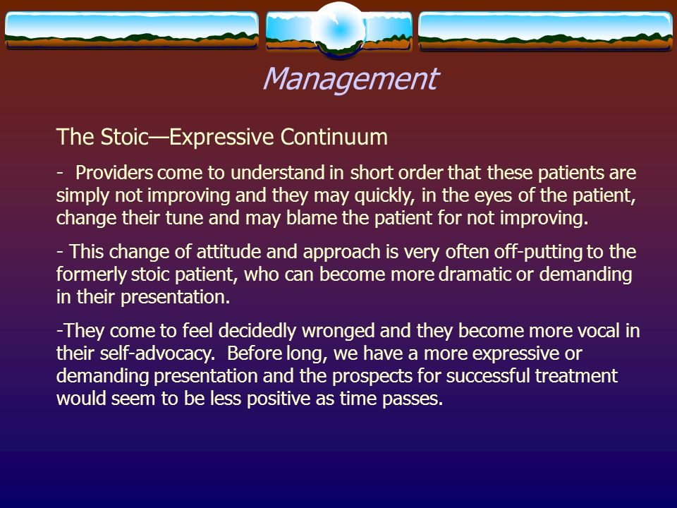 Management The Stoic—Expressive Continuum