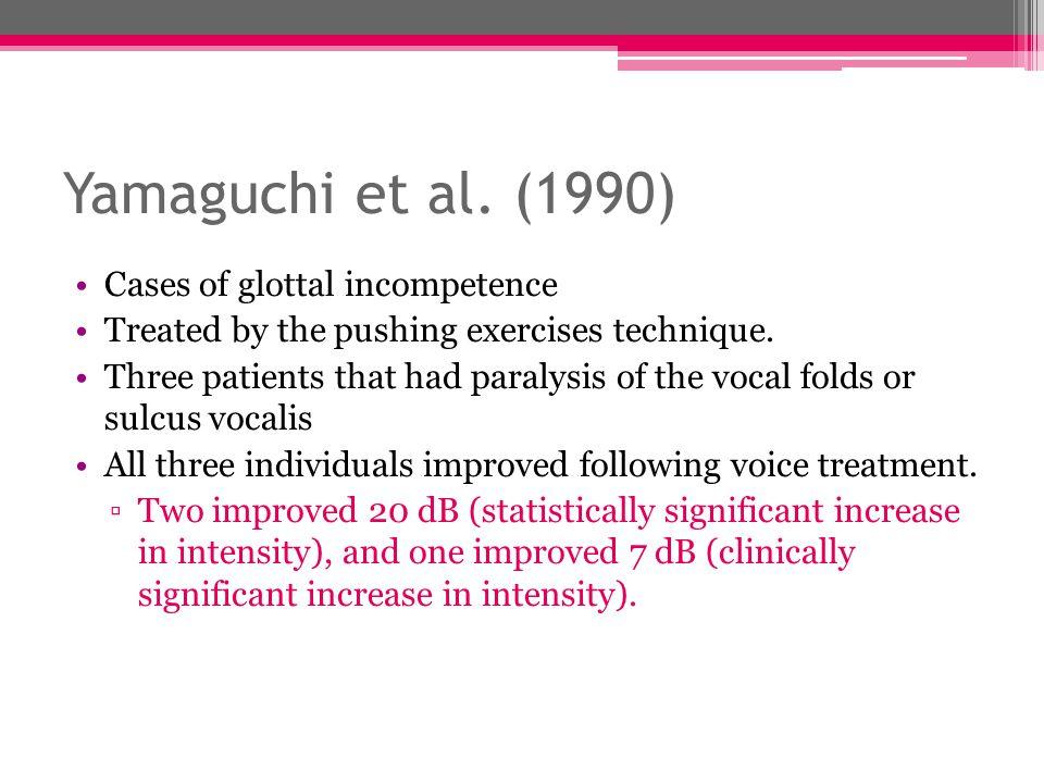Yamaguchi et al. (1990) Cases of glottal incompetence